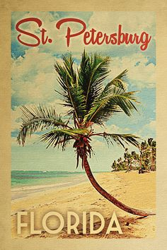 Punta Cana Dominican Republic Palm Tree Art Print by Flo Karp. All prints are professionally printed, packaged, and shipped within 3 - 4 business days. Clearwater Florida, Sarasota Florida, Dunedin Florida, Florida Tourism, Vintage Cuba, Photo Vintage, Vintage Florida, Old Florida, South Florida