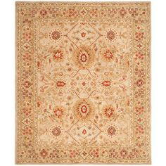 @Overstock.com - Handmade Mahal Ivory Wool Rug (9' x 12') - Add a decidedly traditional vibe to any room when you choose this large handmade wool rug for your floor. This rug has a thick pile that your toes can really appreciate and will lend instant coziness and warmth to hardwood, tile, or laminate floors.  http://www.overstock.com/Home-Garden/Handmade-Mahal-Ivory-Wool-Rug-9-x-12/5316312/product.html?CID=214117 $514.79
