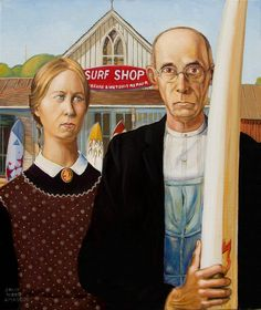 grant wood american gothic - ✖️ART And IDEAS ➕More Pins Like This At FOSTERGINGER @ Pinterest ➖