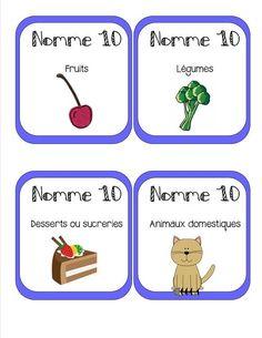 Atelier Nomme 10 = 50 cartes en couleurs à plastifier
