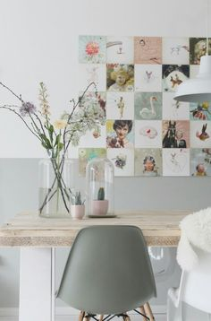Une jolie inspiration déco pour une salle à manger tendance et zen. Pastel Interior, Interior Styling, Interior Design, Inspiration Wall, Interior Inspiration, Modern Vintage Decor, Affordable Home Decor, Scandinavian Interior, Eames