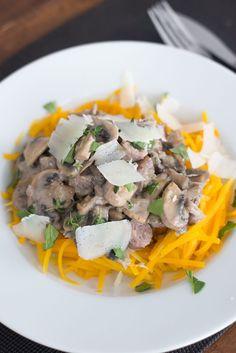 pompoenspaghetti-met-champignonsaus