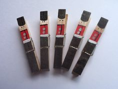 Toy Soldier Clothespins  Handpainted