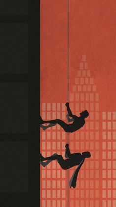 Batman and Robin Climbing iPhone 5 Wallpaper