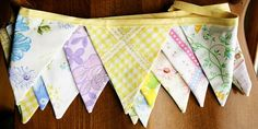 Vintage Sheet Bunting - I'll be making my own, but this Etsy find is very cute