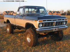 I actually am keen on this color scheme for this 1973 1979 Ford Truck, Lifted Chevy Trucks, Ford 4x4, Ford Pickup Trucks, 4x4 Trucks, Cool Trucks, Custom Trucks, Trailers, Classic Ford Trucks