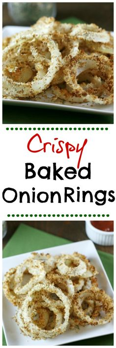 Baked Onion Rings, Make your own onion rings at home. Low calorie, low ...