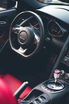 Audi R8 interior.