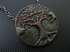 Tree Of Life (Green). Material: Polymer Clay
