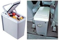 Koolatron P20 12V Compact Coolers Slim, compact design is ideal for minivans, SUVs, or small cars, Uses 12V power to cool or warm drinks and food, Unique cord wrap