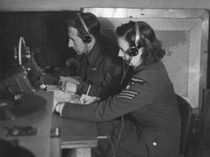 A WAAF and RAF Y-Service operator at West Kingsdown.