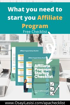 What are your questions about starting your affiliate program? Ready to get started? Here's a checklist to take you through the essential parts of your affiliate program. Get Started, Programming, Gems, Success, How To Get, Marketing, Learning, Business, Rhinestones