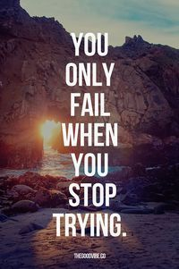 Don't give up, persevere! Keep on working for your dreams, don't ...