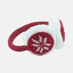 Amazon.co.jp: [M.I.USA] ニット デザイン 防寒 イヤーマフ 耳当て イヤーマフラー Ear Muffs Knit Design Type: Red Dots 【並行輸入品】: シューズ&バッグ:通販
