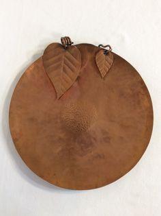 Signed Frank Rebajes Vintage Copper Set of Pendant Necklace Rebajes Copper Parure Wide Link Bracelet /& Screw Back Earrings Modernist Leaf