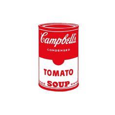 Framed Giclee Print: Campbell's Soup I: Tomato Framed Art by Andy Warhol : Sopa Campbell, Campbell's Soup Cans, Andy Warhol Art, Pop Art Movement, Black Bean Soup, Tomato Soup, Onion Soup, Arte Pop, True Art