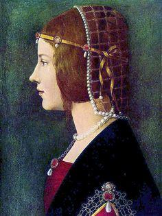 Ambrogio de Predis - Portrait of a lady (Beatrice d'Este) by petrus.agricola, via Flickr