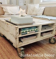 Sustainable Decor: Upcycled Pallet Coffee Table