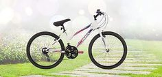 Huffy Granite 24 in. Mountain Bike - White: gives you everything you're looking for both on and off the trail. Beautiful, comfortable, and dependable, this rugged mountain bike is a stone-cold performance machine.