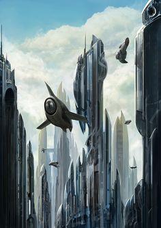 city in the sky by ~poisondlo on deviantART