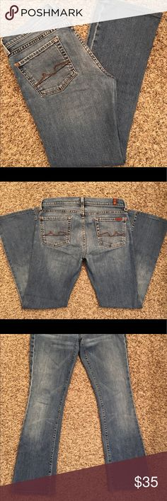 "Seven for all mankind Jeans size 30 Gently used and in good condition, some fraying on bottom cuffs. 30"" inseam Jeans"
