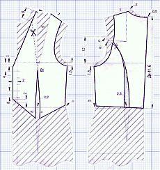 Женская жилетка, выкроить и сшить жилетку. Выкройки жилетов, жакетов
