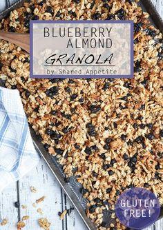 Gluten-Free Blueberry Almond Granola (with Chia Seeds!)