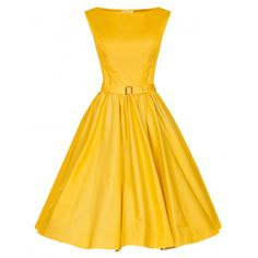 Choies Yellow Vintage Sleeveless Midi Dress ($31) ❤ liked on Polyvore featuring dresses, yellow, no sleeve dress, vintage short dresses, short yellow dress, sleeveless dress and calf length dresses