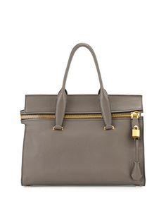 Alix Medium Soft Satchel Bag, Dark Gray by TOM FORD at Neiman Marcus.