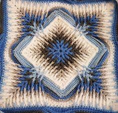 Trebling Granny Square - free crochet pattern by Ame Crochet Motifs, Crochet Quilt, Crochet Blocks, Granny Square Crochet Pattern, Crochet Pillow, Crochet Stitches Patterns, Crochet Squares, Crochet Doilies, Free Crochet