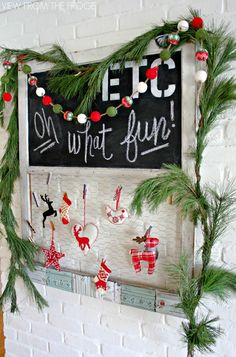 Black, White, and Green: A Modern Christmas Home Tour - View From The Fridge Merry Little Christmas, Modern Christmas, Green Christmas, Family Christmas, All Things Christmas, Winter Christmas, Christmas Mantels, Christmas Wreaths, Christmas Crafts