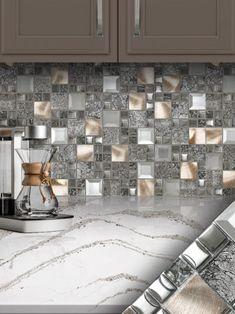 22 best metal tile backsplash images kitchen backsplash metal rh pinterest com