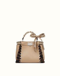 85f29945015 light brown leather handbag - PEEKABOO MINI | Fendi | Fendi Online Store