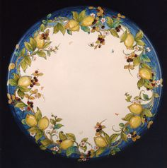 LEMONS AND BLACKBERRIES - ceramic tabletop