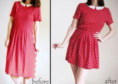 DIY Fri: Add an Elastic Waist to a Big Dress