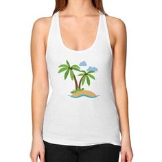 Women's Racerback Tank - Island. American Apparel female racerback tank (2329). A casual form-fitting tank with generously cut arm openings and a sporty yet feminine racerback. 100% Fine Jersey cotton construction. Made in USA. 9 skilled workers construct each T-Shirt in a sweatshop-free environment in downtown Los Angeles.    Size Chest (inches) Waist (inches)   XS 28-30 23-24   S 30-32 25-26   M 32-34 27-28   L 36-38 30-32