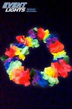 Neon Regenbogen Hawaiikette