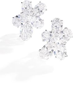Pair of attractive diamond ear clips