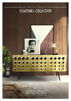 If you are a fan from James Bond world, you will certainly be dazzled with this catch-of-an-eye piece, which seems to be part of the famous 007 world. Diamonds Are Forever will sound even more pleasant if listened from a retro stylish vinyl… Putted exactly on the surface of Monocles sideboard. Darkest and opulent ambiances are perfect to contrast with the golden doors shine, along with a 50's urban decor touch achieved by the black circles irreverently impressed. Retro chic  is back this ...