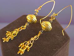 Turkish Brass Dangle Earrings by MLRanchJewelry on Etsy
