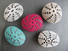 Crochet-Covered Stones - via @Craftsy