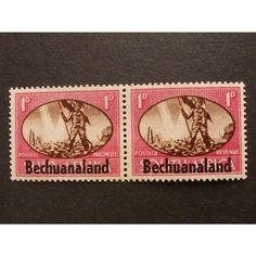 BECHUANALAND 1945 Victory Issue 2 x 1d bi-ligual pair SG129 Mounted Mint Listing in the Bechuanaland,Bechuanaland & Botswana,Commonwealth & British Colonial,Stamps Category on eBid United Kingdom