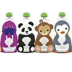 Squooshi Reusable Food Pouch - Large - oz - 4 pk Freezable No-choke cap Dishwasher safe Convenient BPA Free Phthalate Free PVC Free Reusable Adorable Lead Free Not recommended for microwave use. Not recommended for liquids. Pureed Food Recipes, Baby Food Recipes, Squishy Food, Zip Lock, Boite A Lunch, Little Lunch, Thing 1, Toddler Snacks, Specialty Foods