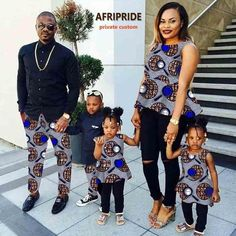 MSA Signature African couple clothes dress for women with kids skirt traditional family bazin riche clothes print cotton wax summer plus size African Fashion Designers, African Fashion Ankara, African Print Fashion, Africa Fashion, African Wear, African Attire, African Style, Couples African Outfits, African Dresses For Kids