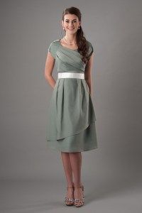 Modest Bridesmaid Dresses : MDS 2145 $85 I love the style, but they only have three colors.