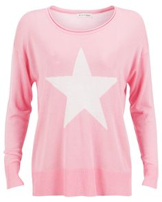 Second Female Sweater Star Pink