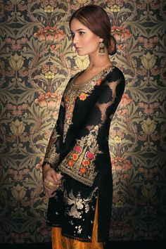 Picture of Midnight bloom Beautiful Pakistani Dresses, Pakistani Bridal Dresses, Pakistani Outfits, Indian Dresses, Indian Outfits, Saris, Pakistan Fashion, Indian Couture, Party Wear Dresses