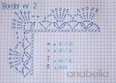 Image result for bordes y puntillas a crochet gratis faciles