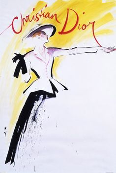 René Gruau pour Christian Dior