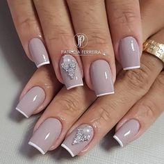 Diva Nails, Glam Nails, Classy Nails, Beauty Nails, Glitter Nails, Cute Nails, Pretty Nails, Beauty Makeup, Hair Beauty